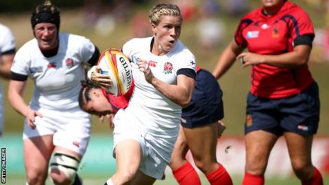 Women's Rugby World Cup: England 45-5 Spain