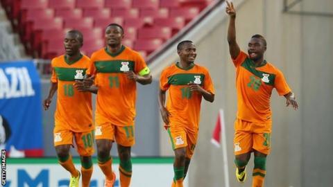 Zambia players