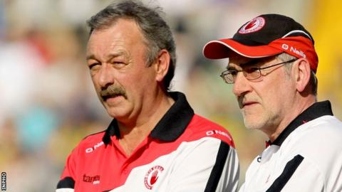 Tony Donnelly with Mickey Harte