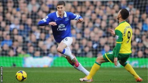 John Stones (left) and Ricky van Wolfswinkel