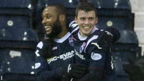Ross County forwards Yoann Arquin and Graham Carey