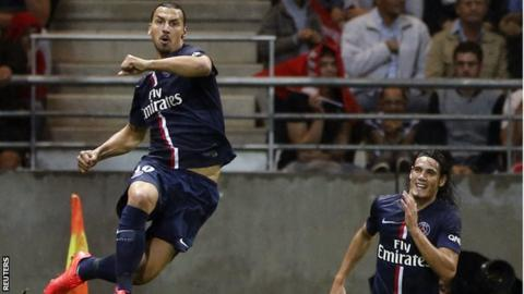Zlatan Ibrahimovic in action for Paris St-Germain