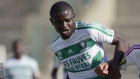AC Leopards' player Cesaire Gandze