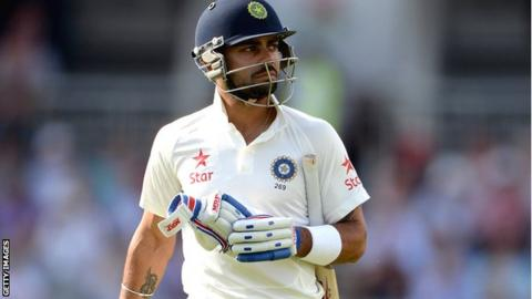 Virat Kohli has scored only 108 runs in eight innings in the series