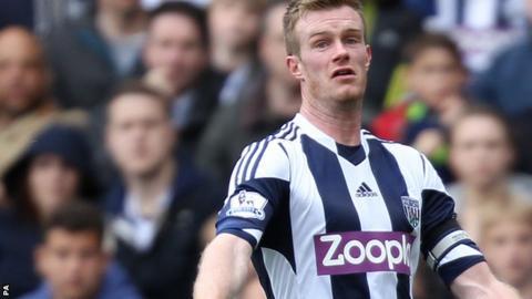 West Bromwich Albion's Chris Brunt
