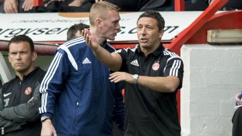 Derek McInnes admitted Aberdeen were tired as they lost 3-0 to Dundee United.