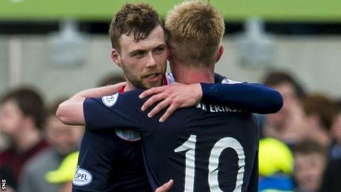 Last season's top scorer Rory Loy netted Falkirk's first goal against Cowdenbeath on Saturday