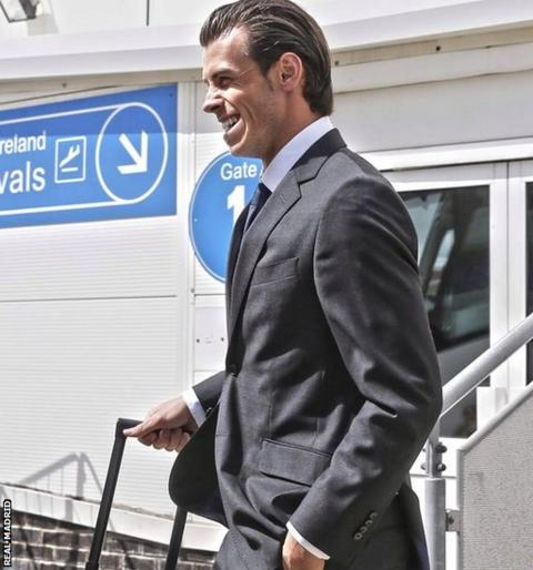 Gareth Bale back in his home city.