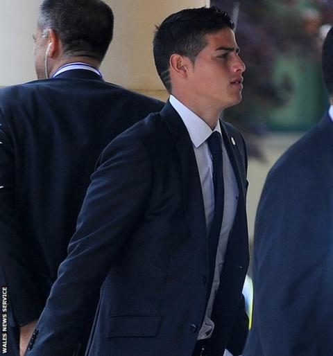 Real Madrid's Colombian forward James Rodriguez who signed for the club for a fee which could reach £71m.