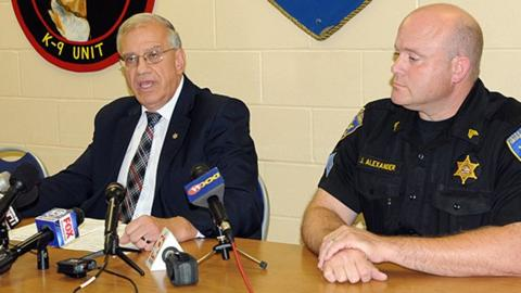 Ontario County Sheriff Phil Povero (left)