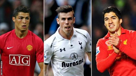 Cristiano Ronaldo, Gareth Bale and Luis Suarez
