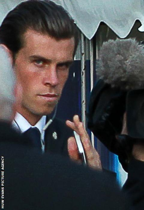 Gareth Bale arrives at Cardiff City Stadium ahead of the Uefa Super Cup between Real Madrid and Sevilla.