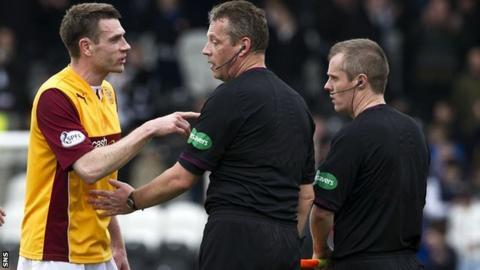 Premiership referee Iain Brines