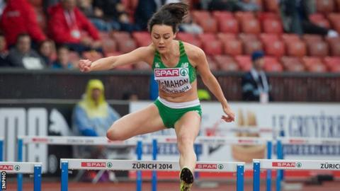 Christine McMahon ran impressively to qualify for the 400m hurdles semi-finals in Zurich