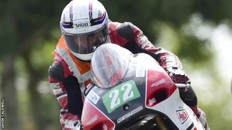 Motorbike racer Pierre Favre from France