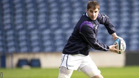 Scotland forward Johnnie Beattie