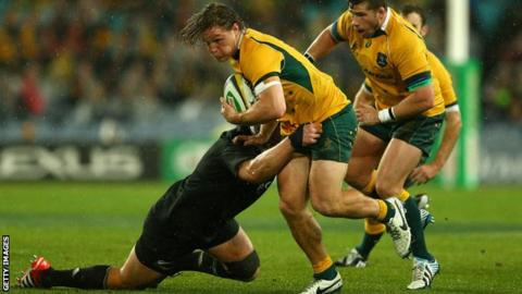 Michael Hooper in action
