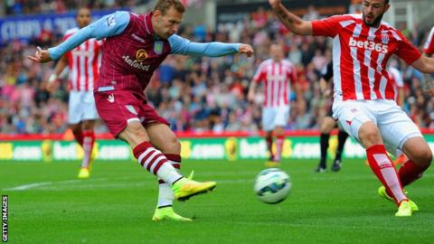 Aston Villa forward Andreas Weimann