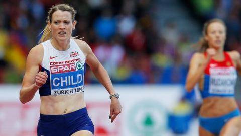 Eilidh Child wins 400m hurdles gold at the European Athletics Championships in Zurich