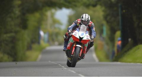 Michael Dunlop failed to finish the Supersport race on his MD Racing Honda