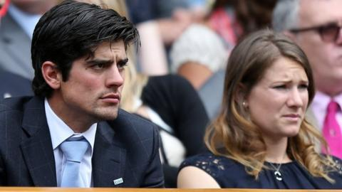 Alastair Cook and wife Alice