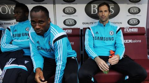 Petr Cech, right, has made more than 300 first-team appearances for Chelsea