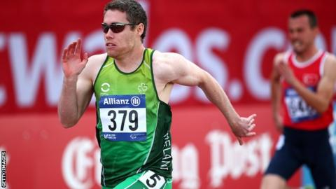 Jason Smyth in action in Swansea on Tuesday
