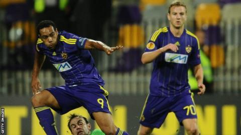 Maribor striker Marcos Tavares