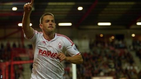 Matty Fryatt celebrates scoring the winner at Bournemouth
