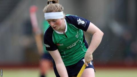 Naomi Carroll scored two goals in Ireland's 6-0 win over France
