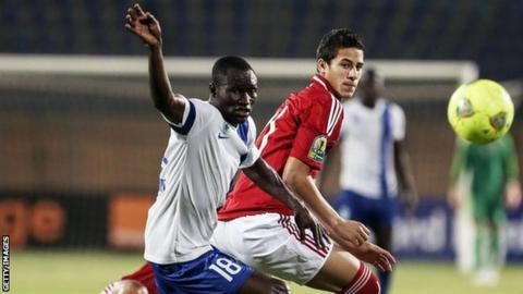 Ahly in action against Sewe