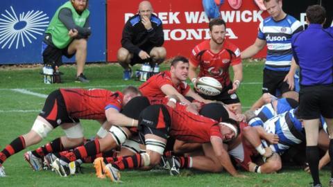 Jersey scrum against Bath