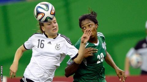 Joelle Wedemeyer of Germany and Uchechi Sunday of Nigeria