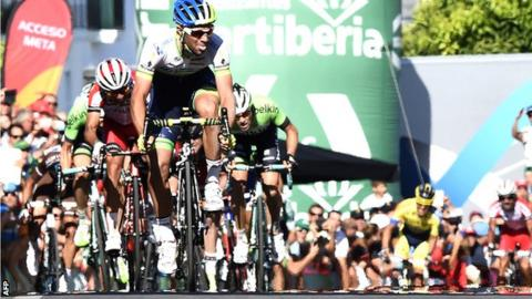 Michael Matthews wins stage three of the Vuelta