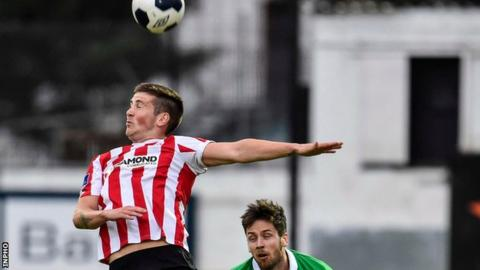 Patrick McEleney scored Derry City's opening goal in their league victory over Limerick