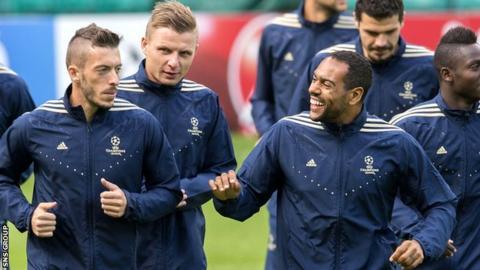 Maribor training at Celtic Park