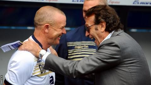Dave Hockaday and Massimo Cellino