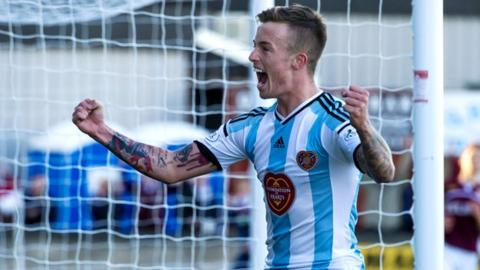 Gary Oliver knocked Hearts in front at Ochilview