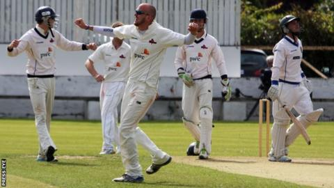 Knights bowler James Cameron-Dow completed a 10-wicket haul in the match