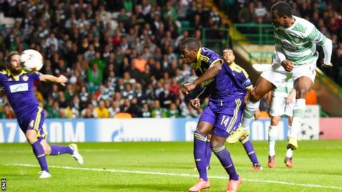 Maribor and Celtic players