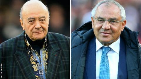 Mohamed Al Fayed and Felix Magath