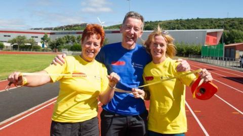 Janice Hendrie, Gerry Gaffney and Rhona Bushfield