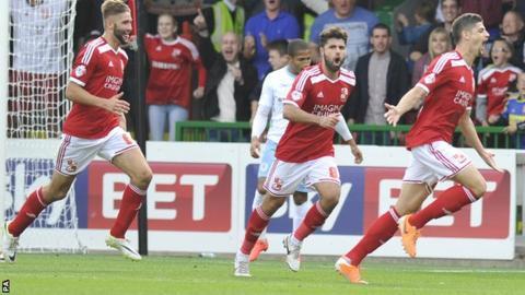 Raphael Rossi-Branco celebrates his goal