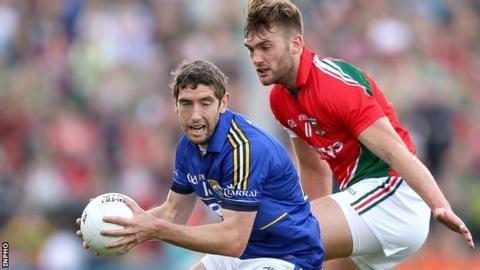 Kerry's Killian Young and Mayo's Aidan O'Shea