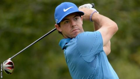 Rory McIlroy hit seven birdies in his 64 on Sunday