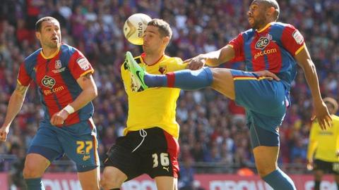 Danny Gabbidon in action for Crystal Palace