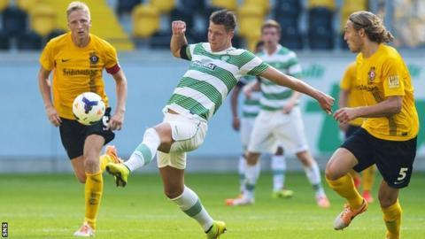 Celtic forward Holmbert Fridjonsson