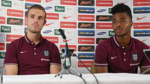 Jordan Henderson and Raheem Sterling