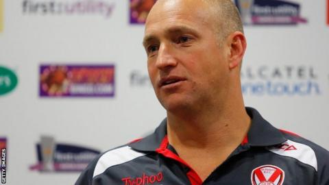 St Helens coach Nathan Brown
