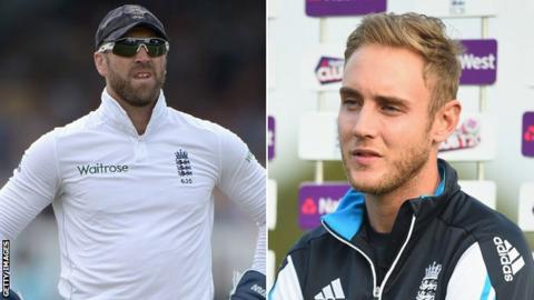 Matt Prior and Stuart Broad